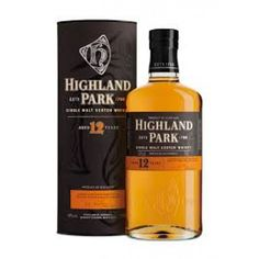 Highland Park 12 Year Single Malt Scotch Whisky; Refined and distinctive, the Highland Park 12-year single malt Scotch whisky has a unique combination of flavor that comes as the result of the distillery's unique processes | spiritedgifts.com