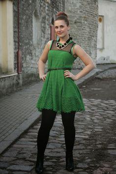 Pearls  Scissors: Refashionista: Knit skirt into dress