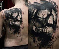 Abstract Skull Tattoo by Timur Lysenko | Tattoo No. 12729