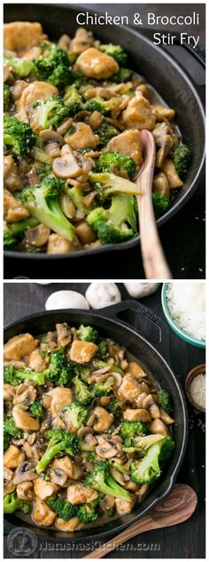 This chicken and broccoli stir fry is so tasty and much healthier than takeout!This chicken and broccoli stir fry is so tasty and much healthier than takeout! Think Food, I Love Food, Good Food, Yummy Food, Tasty, Healthy Cooking, Healthy Eating, Cooking Recipes, Healthy Recipes