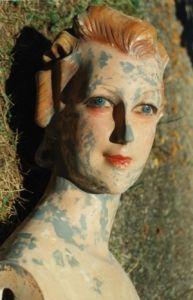 Vintage mannequin head