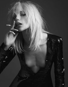 Morning Beauty | Sasha Pivovarova by Hedi Slimane | Fashion Gone Rogue: The Latest in Editorials and Campaigns