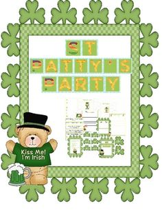 This resource is packed full of ideas for Literacy Centers, all with a St Patrick's Day theme. The 28 page set comprises:Blends matchPatrick?...