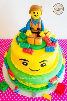the Lego movie cake Emmet everything is awesome todo es increible pastel la pelicula de lego Lego Movie Cake, Lego Movie Birthday, Movie Cakes, Adult Birthday Cakes, Lego Cake, Birthday Parties, Birthday Ideas, Kid Parties, Bolo Lego