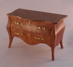 Bombe Commode by Tony Jones - $270.00 : Swan House Miniatures, Artisan Miniatures for Dollhouses and Roomboxes