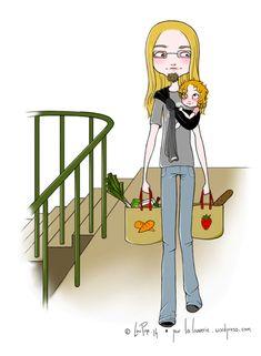 portage02 Mom Daughter, Babywearing, Silhouette, Ring Sling, Children, Baby Wearing, Infant Clothing, Toddler Dress