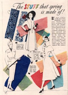 The (super lovely!) stuff that spring is made of! #vintage #1950s #fabric #fashions