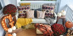 37 Cozy Ways to Decorate Your Porch for Fall Happy fall, y'all!