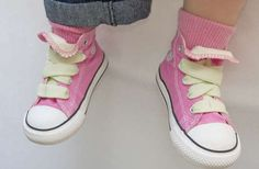 Elastic laces, great for kids to just slip them on! (plus look of laces)
