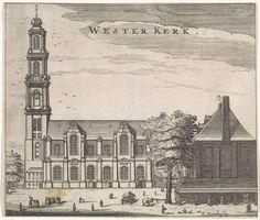 Jan Veenhuysen   Gezicht op de Westerkerk te Amsterdam, Jan Veenhuysen, 1665  