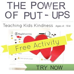 A free activity! (Read the website for the code to enter to get it free) Normally $10! Teaches kids how to use positive reinforcement with one another