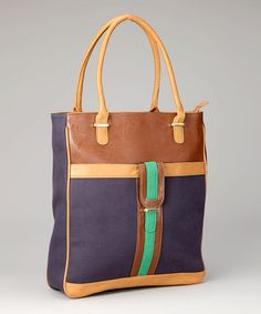 Take a look at this Blue & Chocolate Tote by Style Savvy: Women's Handbags on #zulily today!