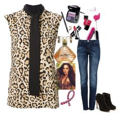 """Leopard"" by avon-capital-federal-argentina ❤ liked on Polyvore featuring Gucci, Avon and Salvatore Ferragamo"