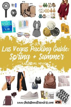 Do you need a little help figuring out what you should pack for your upcoming Las Vegas trip? No matter what the traveling occasion is here are some essential clothing, accessories, and travel gear you'll want to bring with! www.thetattooedtravelers.com // Packing Tips // Las Vegas Packing List Summer // Las Vegas Packing List Spring // What To Bring To Las Vegas #lasvegas #nevada #packingguide