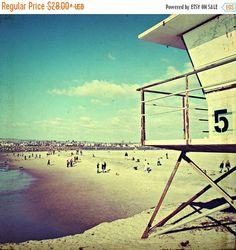 31% OFF san diego art // vintage beach by SeptemberWren on Etsy