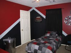 Aiden wants his future room to be red and black