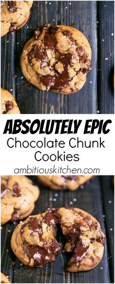 Delicious chocolate chunk cookies with a few special ingredients to take them over the top. There's no other chocolate chip cookies like these