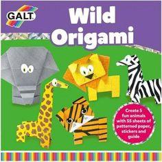 SET CREATIV - AVIOANE DE HÂRTIE Origami Set, Origami Toys, Origami Paper, Recycled Magazine Crafts, Giraffe, Elephant, Jungle Animals, Summer Activities, Sticker Paper