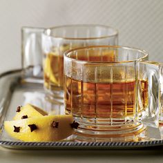 Gaelic Punch For hot punches, young Irish whiskeys work best. Heat intensifies the tannic edge of older whiskeys; young ones stay smooth. Glassware Guide Plus: Ultimate Cocktail Guide Whiskey Sour, Irish Whiskey Drinks, Whisky Cocktail, Bourbon Drinks, Scotch Whiskey, Thanksgiving Cocktails, Winter Cocktails, Fall Drinks, Mixed Drinks