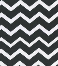 Keepsake Calico Fabric-Black & White Chevron