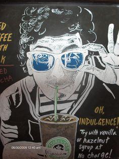 Starbucks barista chalkboard art in North Carolina ...