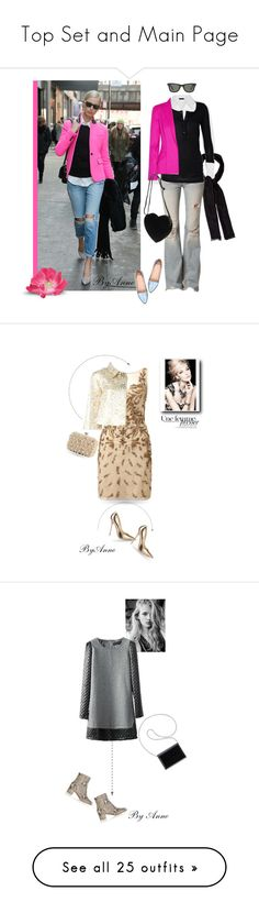 """Top Set and Main Page"" by anne-977 ❤ liked on Polyvore featuring Donna Karan, Loro Piana, Free People, Thierry Mugler, Mollini, Ray-Ban, Aidan Mattox, Dolce&Gabbana, Lulu Townsend and Jimmy Choo"