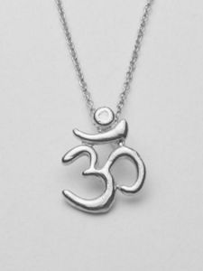 Infinite Om Necklace by Yoga Jewels $65