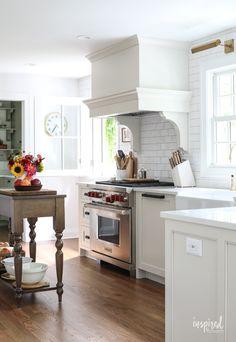 Bayberry Kitchen Remodel Reveal - Inspired by Charm Kitchen Makeover Kitchen Furniture, Kitchen Decor, Kitchen Design, Kitchen Ideas, Decorating Kitchen, Kitchen Colors, Fixer Upper Style, Mason Jars, Mug Design