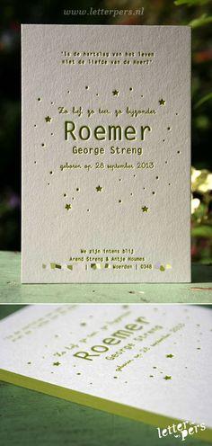 letterpers_letterpress_geboortekaartje_Roemer_groen_sterretjes_lief_kleur-op-snede