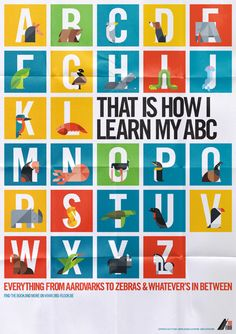 Animal Alphabet / Bart De Keyzer #illustrazione #poster #grafica #animali
