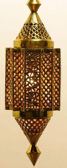 "1stdibs.com | Moroccan Style Reticulated Brass Pendant Light  23"" $2800"