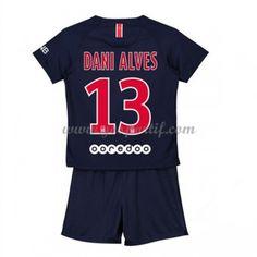 Paris Saint Germain PSG maillot de foot enfant 2018-19 Dani Alves 32 maillot domicile Maillot Paris Saint Germain, Psg, Dani Alves, Saints, Fashion, Unitards, Asylum, Moda, La Mode
