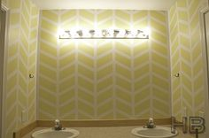 Painting Herringbone Design on your Walls