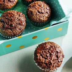 Muffins au son et double chocolat Healthy Food Alternatives, Biscuit Cake, Whey Protein, Chocolate Desserts, Biscuits, Easy Meals, Brunch, Cooking Recipes, Snacks