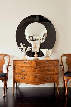 Modern Interior Mixing-  Art Deco Chairs + French Style Commode (Louis Xv)