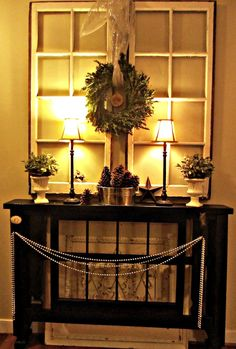 Christmas Entryway DecoratingIdeas #christmas #entryway #foyer