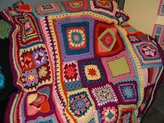 Ravelry: Project Gallery for Granny Square Sampler Afghan pattern by Jackie H. Curry