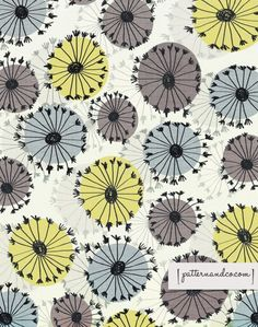 """Amazingly beautiful flowers from Patternandco (aka Michelle Drew). She says: """"The A-Z of Flowers Project is a no pressure, design project – doddle a flower pattern every day or paint one every week, if you need a bit of inspiration or when the moment takes you go with it!Please feel free to join in – patterns, art, prints, mixed media – any type of art and design that you love …… just start with the letter A!"""""""