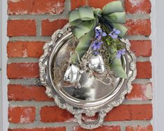 Vintage  Silver Plate  Round Serving Tray  Creamer by PearlsParlor, $42.25