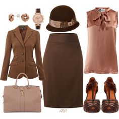 Dusty Rose and Brown