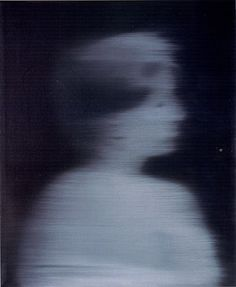 (via Gerhard Richter » Art » Paintings » Photo Paintings » Women's Head in Profile » 80-11)
