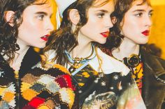 Prada - Three is the magic number. Pat McGrath's bold red lip is the star of this shot.