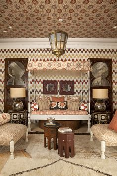 Modern Morocco.  I have always been inspired by the Colors!    Martyn Lawrence Bullard inspired fabrics and furniture.