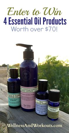 Essential Oil Products Giveaway! Want to win 4 great products made with essential oils, plus Organic Detox Tea?  1. Join my Wellness and Beauty Group, here: https://www.facebook.com/groups/560874604019048/ 2. Verify your entry on the Rafflecopter form, and learn other ways to enter, here: http://www.wellness-and-workouts.com/cleanse-with-essential-oils.html Prizes: Cleanse Blend Essential Oil, Rose & Pomegranate Body Lotion, Geranium & Orange Shower Gel, Rose Facial Wash, and Organic Detox…