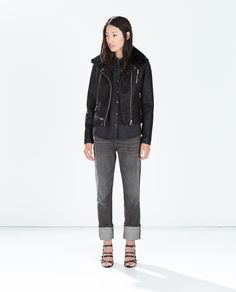 FAUX LEATHER JACKET WITH DETACHABLE FUR COLLAR-View all-Jackets-WOMAN | ZARA United States