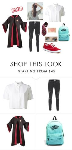 """""""Back to School - Belle"""" by skyexxxx ❤ liked on Polyvore featuring T By Alexander Wang, Paige Denim, Emma Watson, Vans and Keds"""