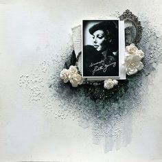 """Mixed Media Memories: """"Sincerely, Loretta Young"""" Layout - VIDEO TUTORIAL"""