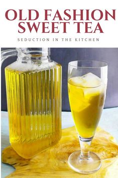 Old Fashion Sweet Tea Do you want a simple old fashion southern sweet tea recipe? This sweet tea is an old fashion, simple iced tea recipe is enjoyed during the hot summer months or any time of the year. You will love this homemade sweet tea recipe, it is Sweet Tea Recipes, Iced Tea Recipes, Great Recipes, Drink Recipes, Delicious Recipes, Favorite Recipes, Tea Cocktails, Tea Drinks, Beverages