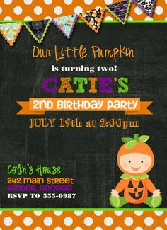 Halloween Birthday Invitation Costume Party Invite Kids - Halloween birthday invitations uk