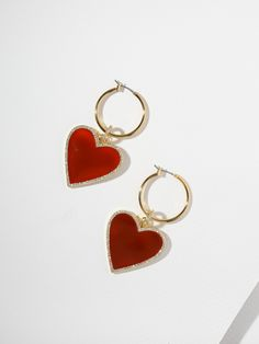 The Avril Earrings by Vanessa Mooney. Shop Earrings, Jewelry and Accessories that are handcrafted in Los Angeles. Jewelry for lovers. Red Jewelry, Jewelry For Her, Pandora Jewelry, Cute Jewelry, Crystal Jewelry, Crystal Earrings, Jewelry Accessories, Jewelry Design, Jewellery